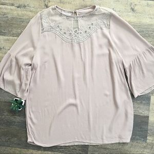 Sunshine Bliss Bell Sleeve Lace Blouse